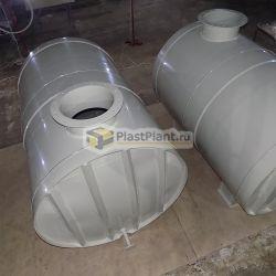 Горизонтальные цилиндрические емкости для воды на заказ