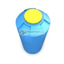 Пластиковая цилиндрическая вертикальная емкость из полиэтилена серийного производства