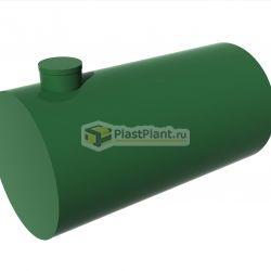 Емкость из пластика для канализации из полипропилена цилиндрической формы