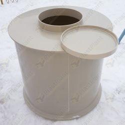 Пластиковая цилиндрическая емкость для питьевой воды и других различных пищевых продуктов