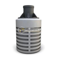 Пластиковая емкость для канализации из полиэтилена цилиндрической вертикальной формы