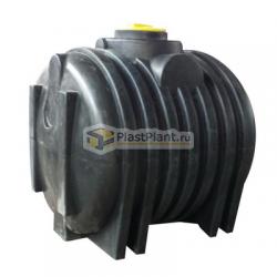 Пластиковая емкость для канализации из полиэтилена цилиндрической горизонтальной формы