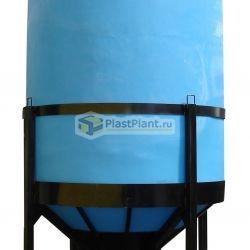 Пластиковая емкость для полива с коническим дном