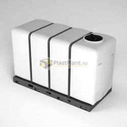 Пластиковая емкость в металлической обрешетке для хранения и перевозки различных пищевых продуктов