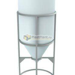 Пластиковая емкость для хранения жидкостей с полным сливом