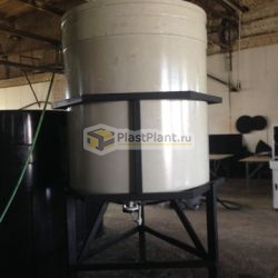 Пластиковая емкость из полипропилена с коническим дном для кислоты