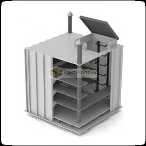 Погреб PLASTPLANT-OS 1,5 x 1,5 x 1,5