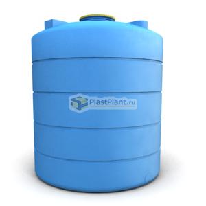 Пластиковая емкость БЦ 5000 литров цилиндрической формы