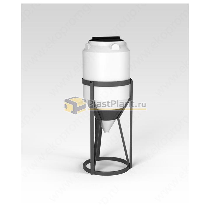 Пластиковая коническая емкость 120 литров в обрешетке серии ФМ - купить в компании ПластПлэнт