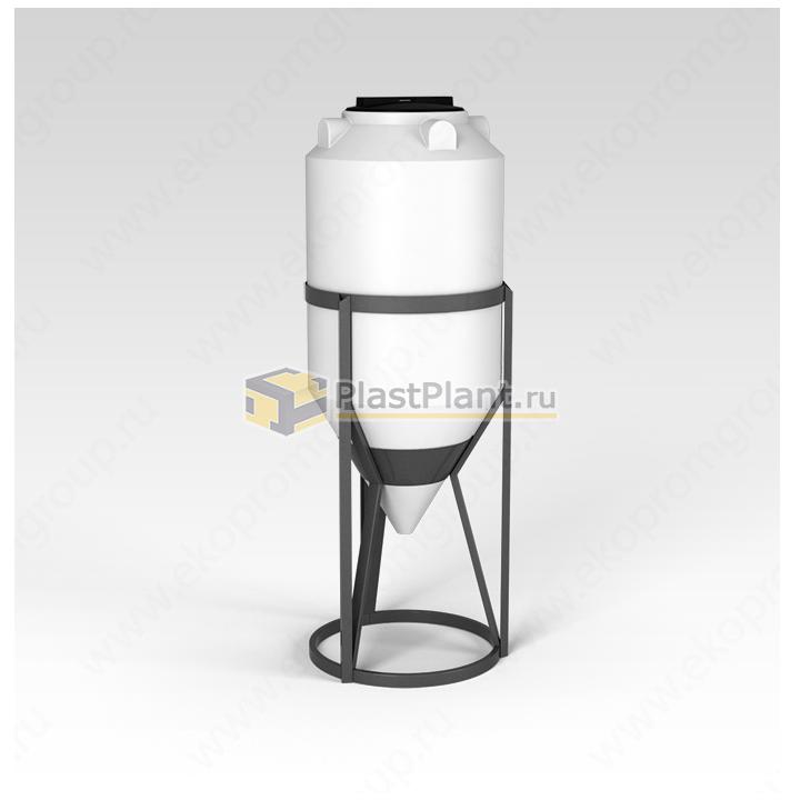 Пластиковая коническая емкость 240 литров в обрешетке серии ФМ - купить в компании ПластПлэнт