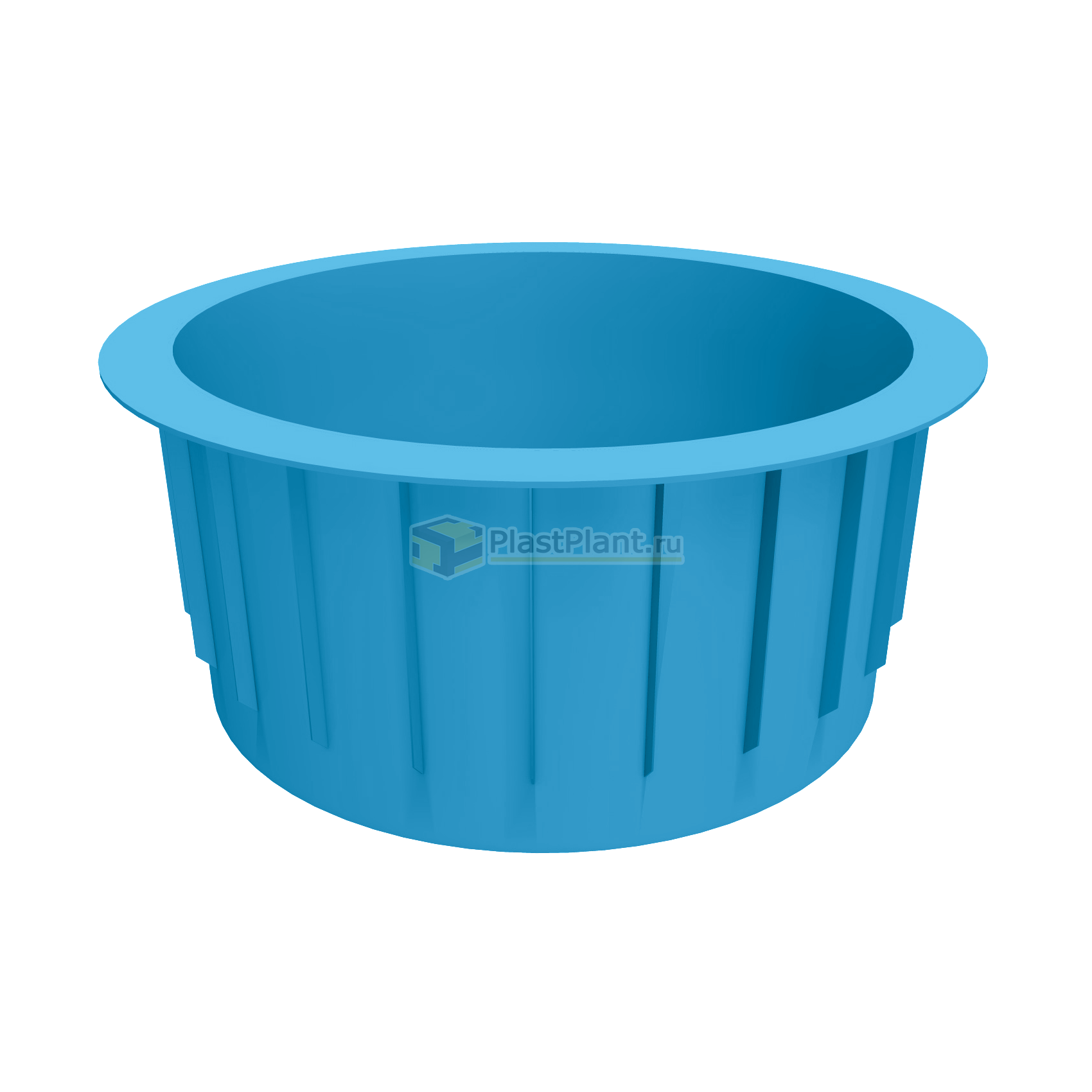Купель круглая 2000x1200 полипропиленовая - купить в ПластПлэнт