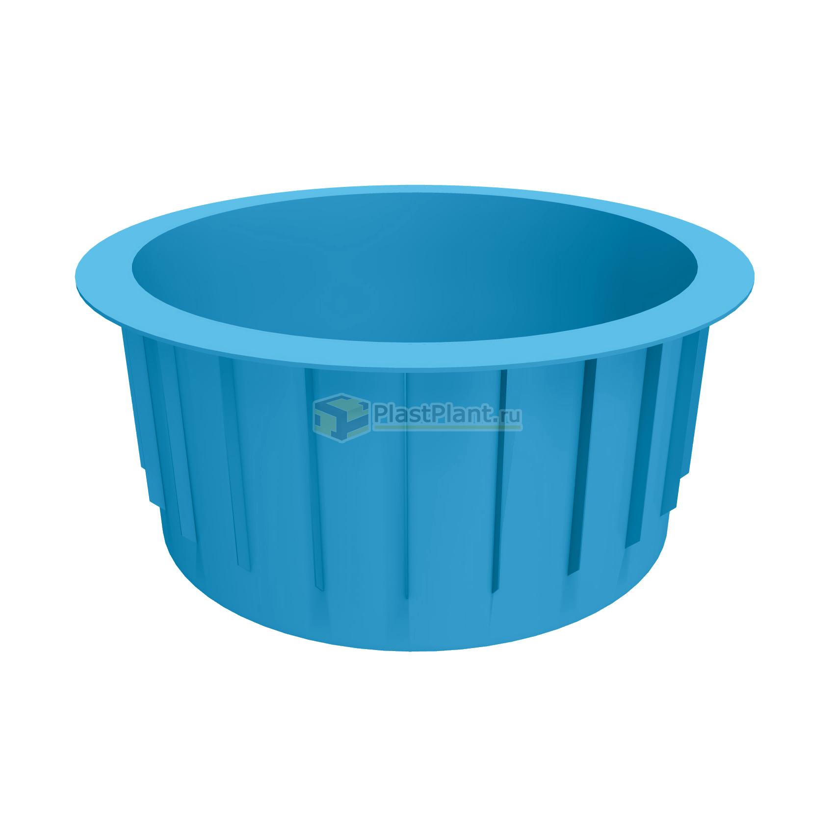 Купель круглая 2000x1500 полипропиленовая - купить в ПластПлэнт