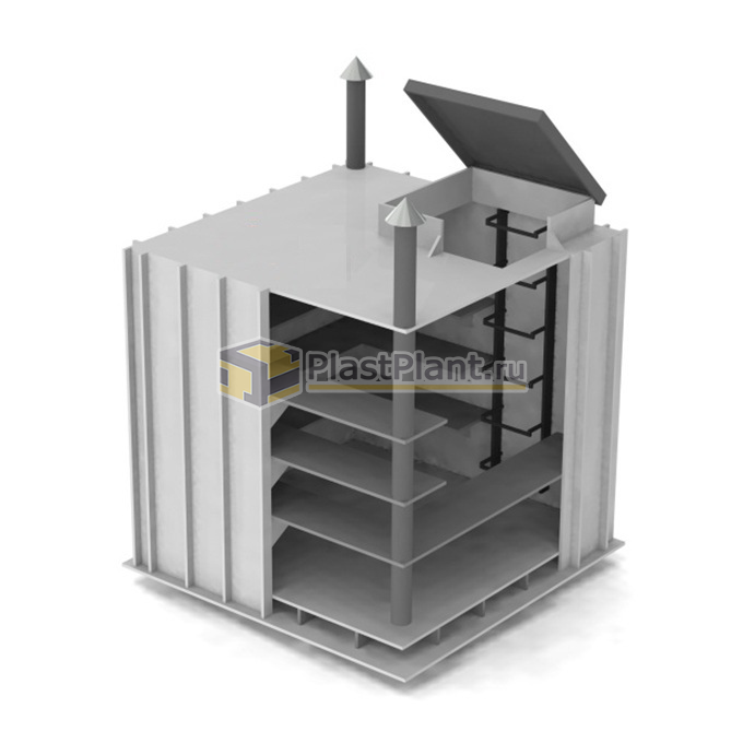 Пластиковый прямоугольный погреб PLASTPLANT-OS 1,5 x 1,2 x 1,5 заказать в ПластПлэнт