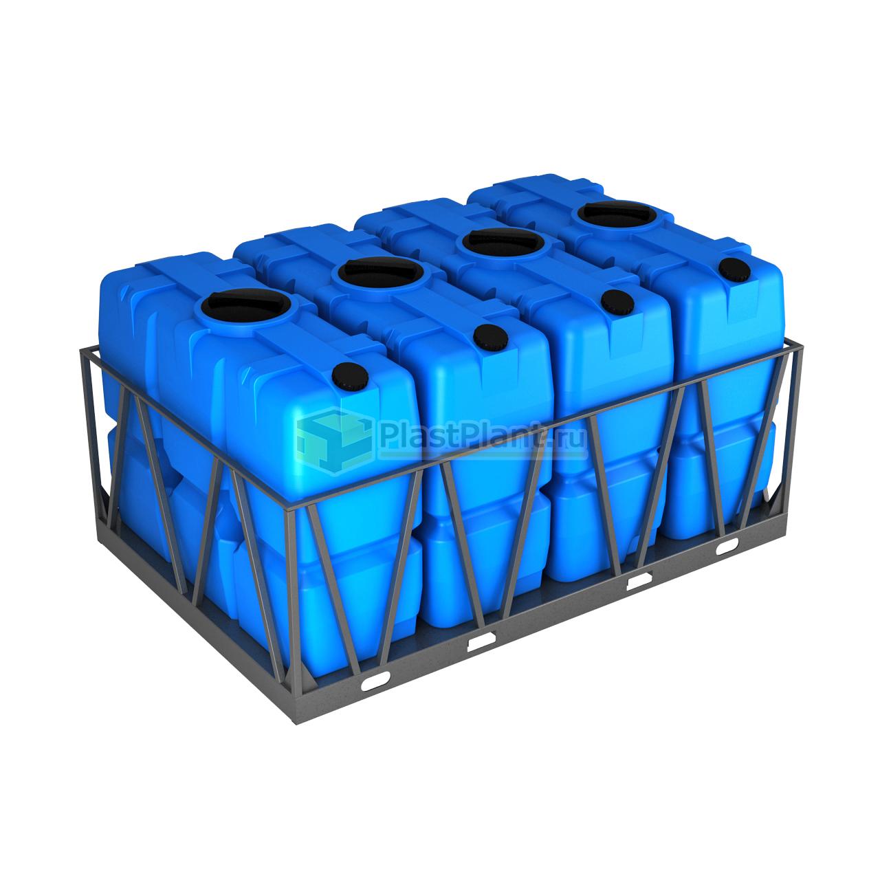 Бак 2000 литров серии SK в обрешетке кассета 4 шт - купить в компании ПластПлэнт