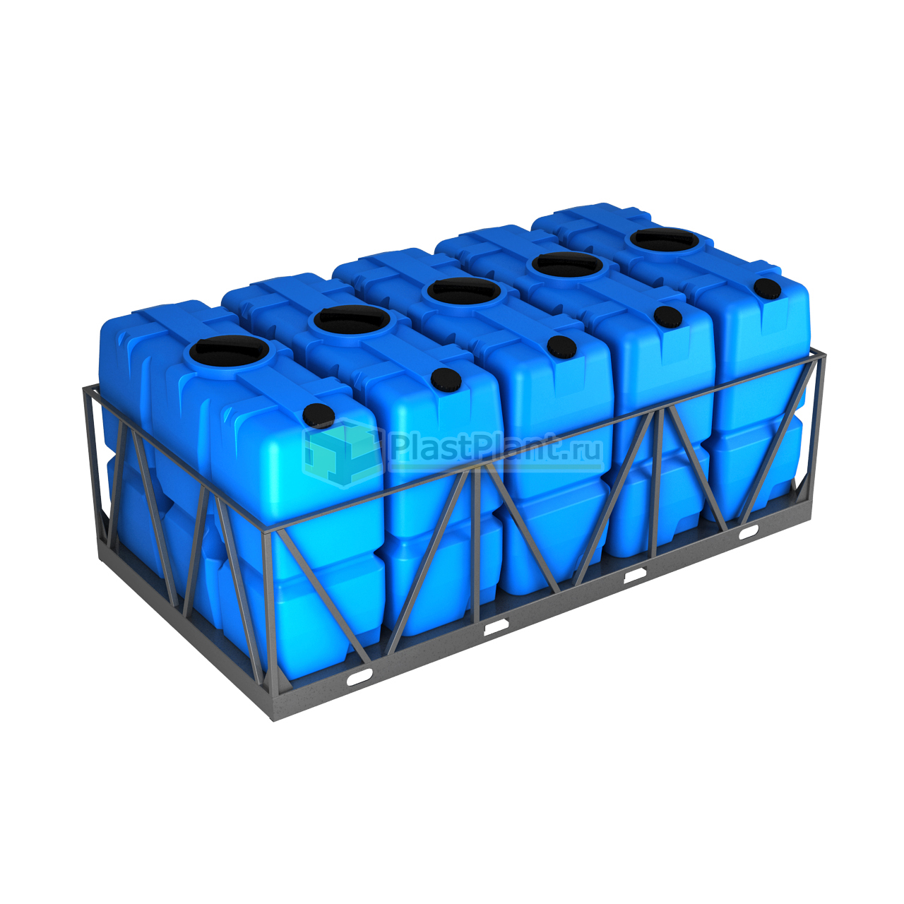 Бак 2000 литров серии SK в обрешетке кассета 5 шт - купить в компании ПластПлэнт