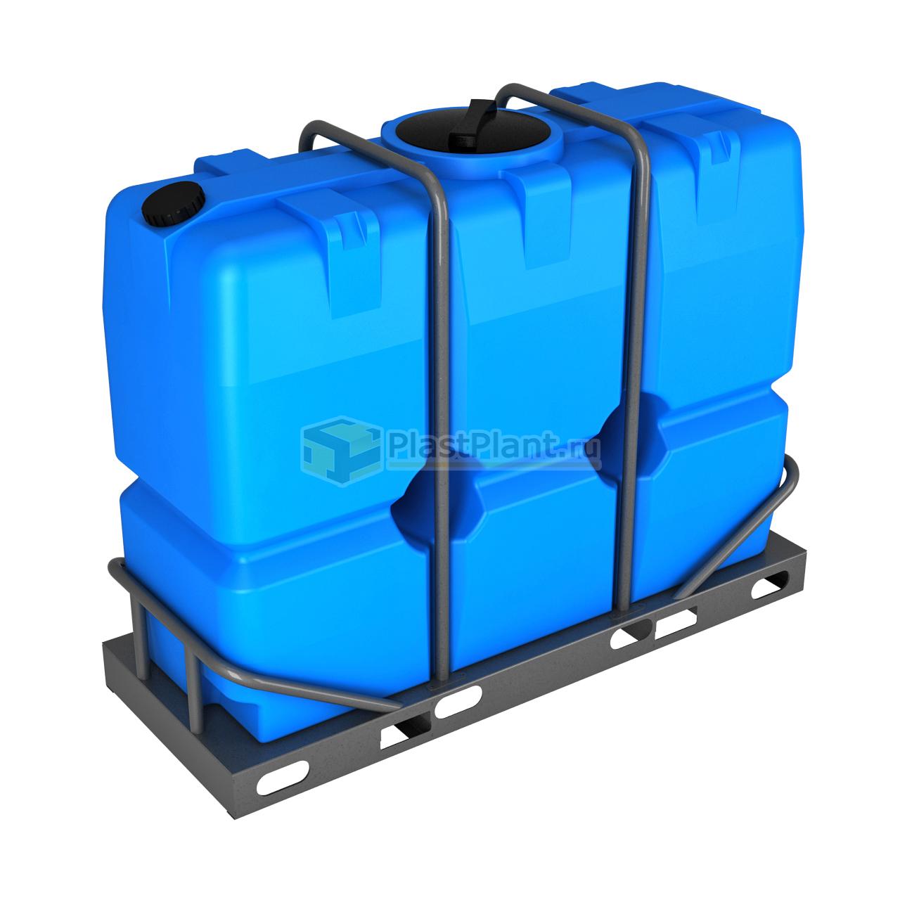 Бак 2000 литров серии SK в обрешетке - купить в компании ПластПлэнт