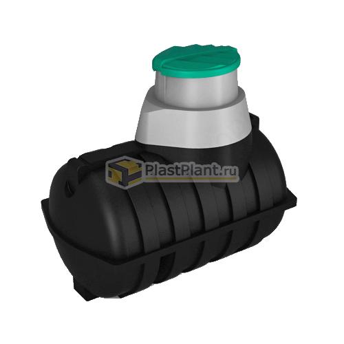 Пластиковая подземная емкость 2000 л для топлива серии U - купить в ПластПлэнт